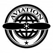vector aviation stamp