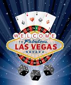 las vegas gambling, vector illustration