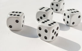 image of groping  - groped their luck rolling the dice game - JPG