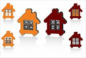 family house, home symbols for design