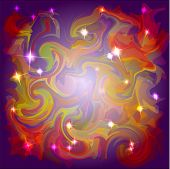 Abstract space colors background with light stars