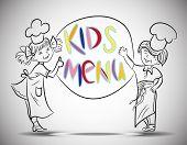 Sketch Boy and girls kids menu