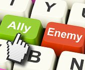 Ally Friend Computer Mean Partnership And Help