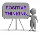 Positive Thinking Whiteboard Means Optimism Hopefulness Or Good Attitude