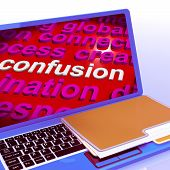 Confusion Word Cloud Laptop Means Confusing Confused Dilemma