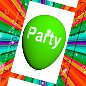 Party Balloon Represents Parties Events And Celebration