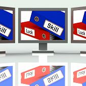 Skill And Luck Folders Show Expertise Or Chance