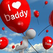 I Love Daddy Balloons Shows Affectionate Feelings For Dad