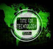 Technology Watch Touch Screen Shows Innovation Improvement Or Hi Tech