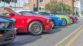 Ford Mustangs, Mustang Alley, Woodward Dream Cruise