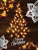 Christmas tree garland poster