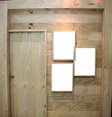Wooden Door And Frame Picture.