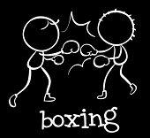 Illustration of people boxing