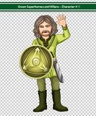 Illustration of a green knight