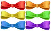 Illustration of a set of different color ribbons