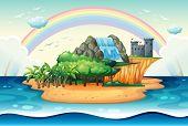 Illustration of an island