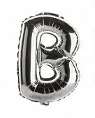 Chrome silver balloon font part of full set upper case letters,B