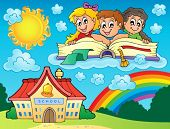 School kids theme image 8 - eps10 vector illustration.