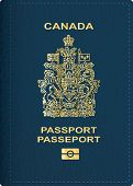 vector Canadian passport cover