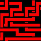 Vector Seamless Interwoven Red Ornament On A Black