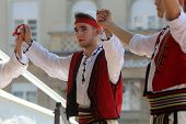 ZAGREB, CROATIA - JULY 20:Members of folk group Albanian Culture Society Jahi Hasani from Cegrane, M
