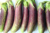 Pile Of Purple Eggplant.