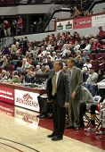 Unlv Coach: Lon Kruger Shouts Instructions To Team