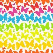 seamless pattern with buttterflies