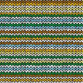 Seamless pattern with colorful hand drawn knitted stripes