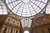 Vittorio Emanuele II gallery in Milan Italy.