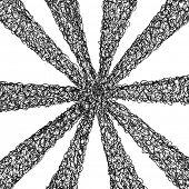 Hand drawn sunburst. Vector eps8