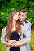Happy Smiling Young Couple Outdoor