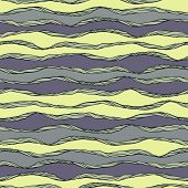 Seamless pattern with abstract waves ornament