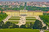 Cityscape telephoto view of Vienna from Gloriette at Schoenbrunn palace