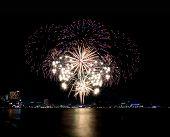 Fireworks Or Firecracker In Pattaya,thailand.