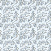 Seamless pattern decorative branches
