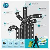 pic of passport template  - Travel And Journey Business Infographic Design Template - JPG