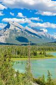 Majestic mountain lake in Canada.