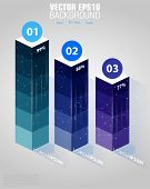Columns of data for the presentation of data. Vector infographics