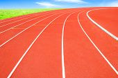 pic of olympiad  - The Running track and sky  - JPG