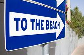 Metal Beach Sign  - To The Beach