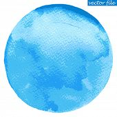 Watercolor circle. Watercolor stain isolated on white background. Watercolour palette. Vector file.