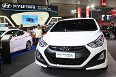 Bangkok - August 19: Hyundai Elantra Car On Display At Big Motor Sale On August, 2014 In Bangkok, Th