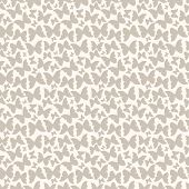 Seamless pattern with silhouette decorative butterflies