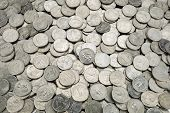 25 US cent coins