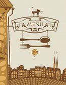 Restaurant and cat