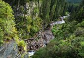 Mountain River in National Park Retezat, Romania, Europe