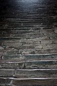 stock photo of stairway to heaven  - Steps in Sacra di San Michele Italy - JPG