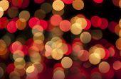 Boke And Defocused Of Christmas Tree