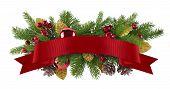 Festive Garland Christmas Element